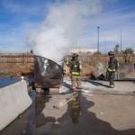 trash bin fires