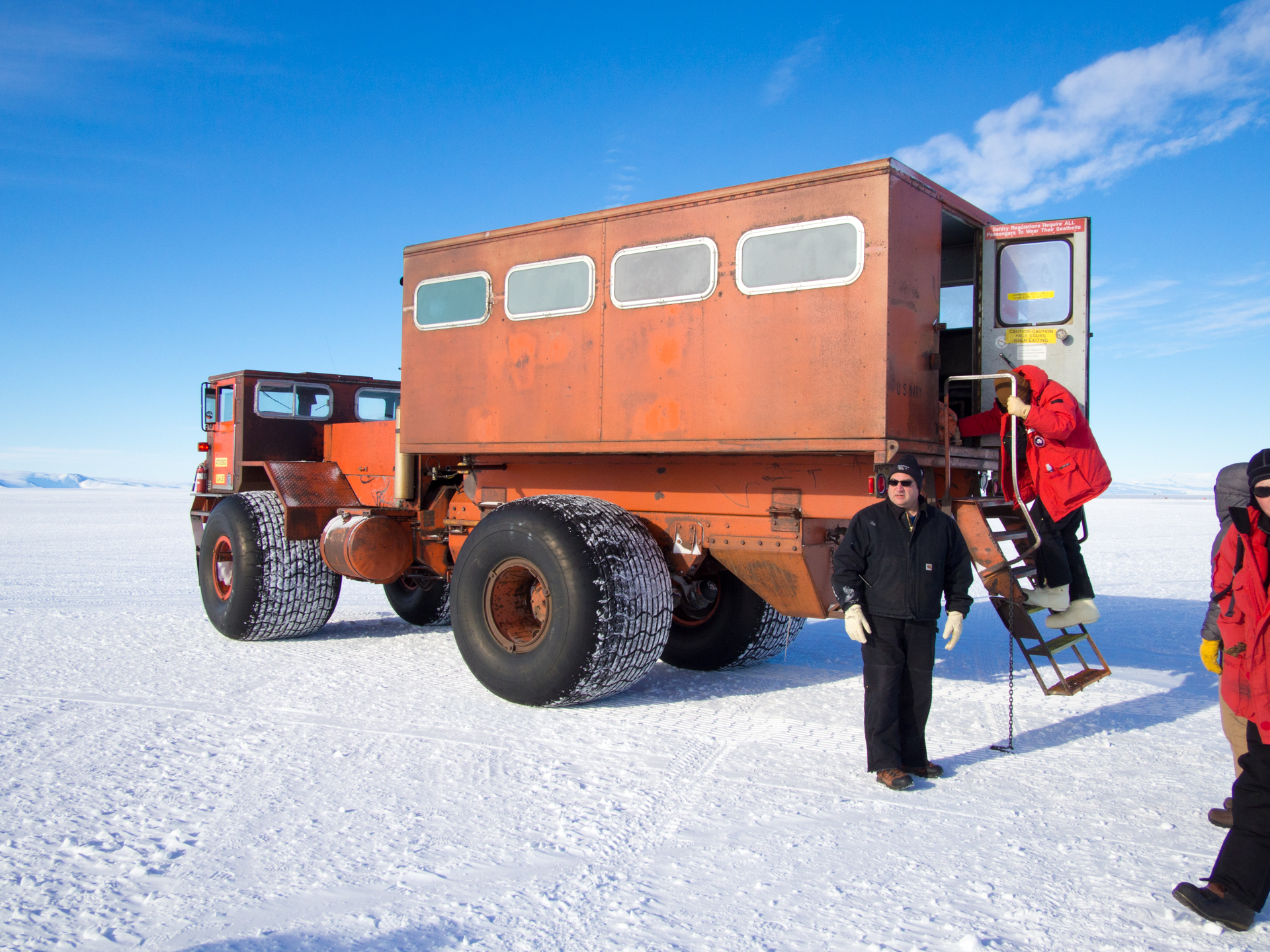 Airport shuttle in McMurdo