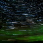 Star trails and iridium flares